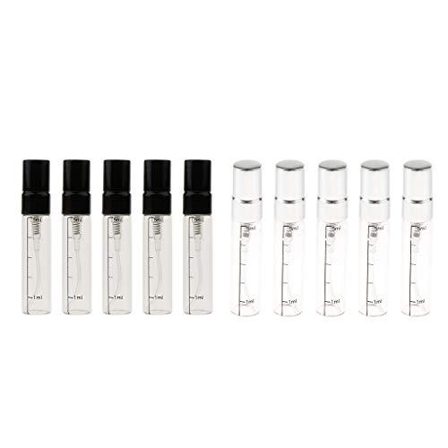 dailymall 5pcs Vid10x Mini Verre Rechargeable Parfum Avec Graduation Échantillon