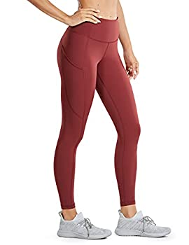 CRZ YOGA Women s Naked Feeling Workout Leggings 25 Inches - High Waisted Yoga Pants with Side Pockets Savannah 25   X-Small