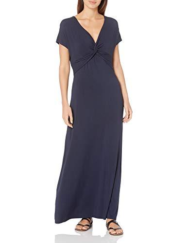 Amazon Essentials Twist Front Maxi Dress Vestido, Azul Marino, L