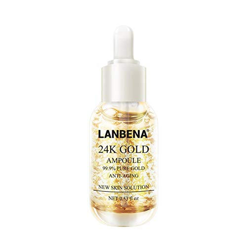 ColorfulLaVie Sérum à la feuille d'or 24K, sérum facial anti-rides hydratant et anti-ridules