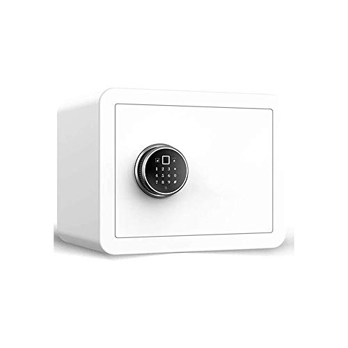 CHUXJ Caja de Seguridad con Teclado Digital, Mini Oficina antirrobo Seguro hogar Seguro pequeña contraseña de autenticación de Huellas Digitales 3c Todo el Acero en la Pared