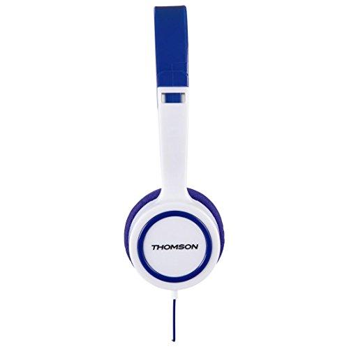 Thomson Kinderkopfhörer On Ear (Lautstärkebegrenzung 85 dB, ultraleicht, spezielle Passform für Kinderköpfe) blau