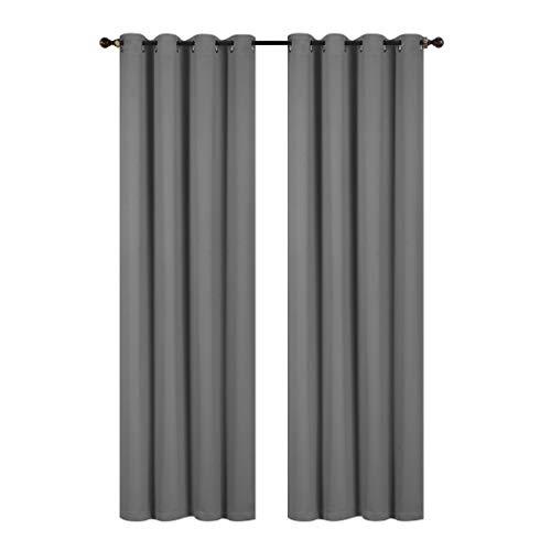 Rama Rose Blackout, la habitación cortinas Ventana Panel Drapes–137,2cm de ancho por 228,6cm de largo, 8Grommets, 1panel Set, gris, 54X90'