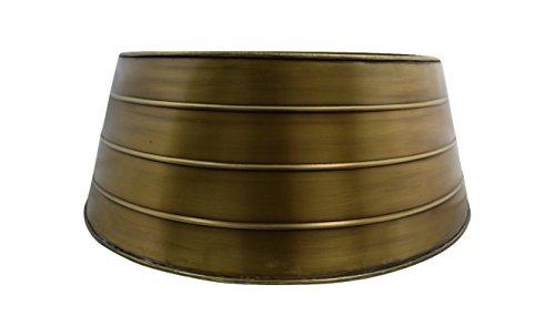 Ivyline Metal Christmas Tree Skirt Gold 67cm, 67x67x25 cm