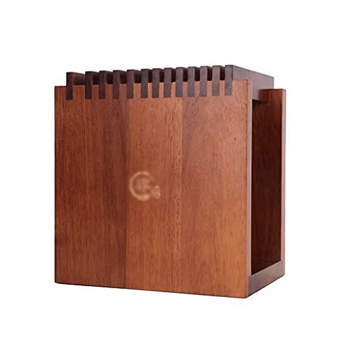 TNSYGSB Acacia Vertical DE Cuchillo DE Cuchilla VENTILADO 12-Slot Cuchillo DE Capacidad DE Largo para LA Cocina DE HOGAR Cuchillos Cocina