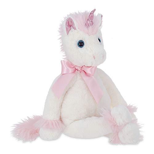 Bearington Fantasy White and Pink Plush Stuffed Animal Unicorn, 16'