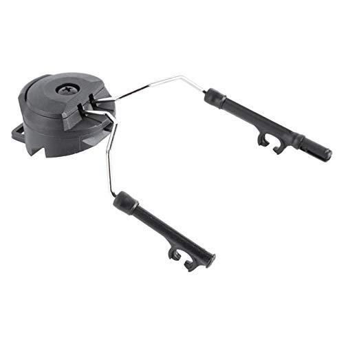 SALALIS Adaptador de riel para Casco Girar libremente 2 Piezas, Cascos RÁPIDOS, para Peltor Comtac(Black)