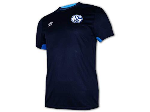 UMBRO FC Schalke 04 Kinder Training Shirt blau S04 Fußball Jersey Fanartikel Jr, Größe:152
