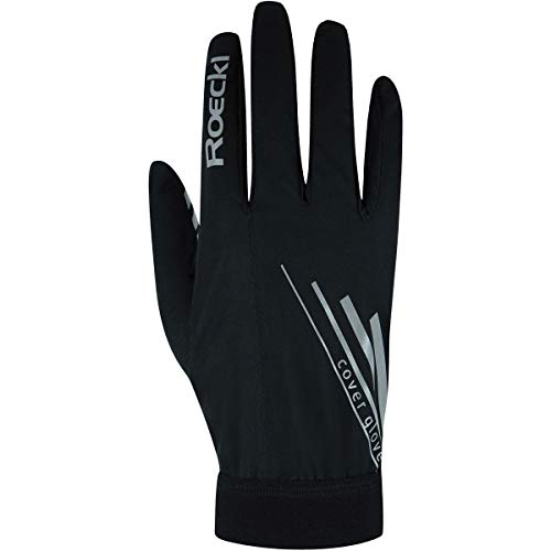 Roeckl Monte Cover 2021 - Guantes de ciclismo (talla 10), color negro