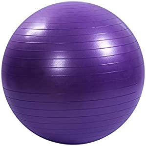 كرة تمارين للياقة البدنية، والصالة الرياضية، والثبات، والتوازن واليوغا، ومضخة سريعة متضمنة - معدات تمارين مضادة للانفجار