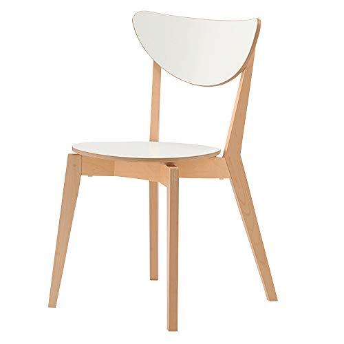 chenyang86 Chaise - élégant dossier minimaliste multi-fonction accueil chambre salon chaise arrière (Couleur : Blanc, taille : 48 * 47 * 79cm)