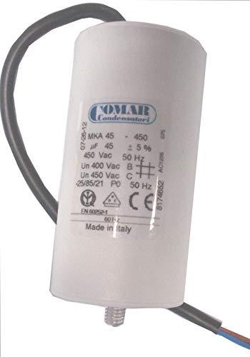 Condensador permanente 45μF cable 250 mm