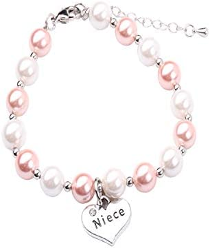 RUNXINTD Aunt Bracelet Niece Jewelry The Love Between an Aunt and Niece is Forever Gift for product image