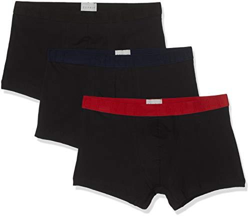 ESPRIT Herren Austin 3shorts Boxershorts, 001/BLACK, XL (3er Pack)