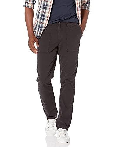 Amazon Brand - Goodthreads Men's Slim-Fit Stretch Canvas Utility Pant, Black, 32W x 32L