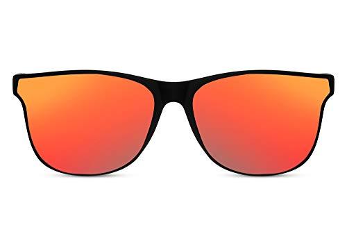 Cheapass Gafas de Sol Montura Amplia Mate Rectangular Negra con Cristales Esquinados...