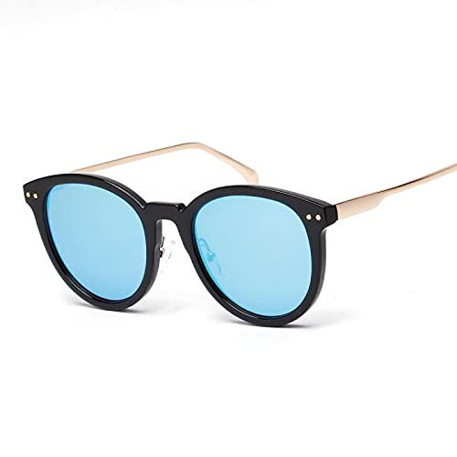 JINZUN Gafas de Sol Retro RedondasCubierta de Marco GrandeGafas deSol de Cara Gafas de protección UV al Aire Libre Unisex