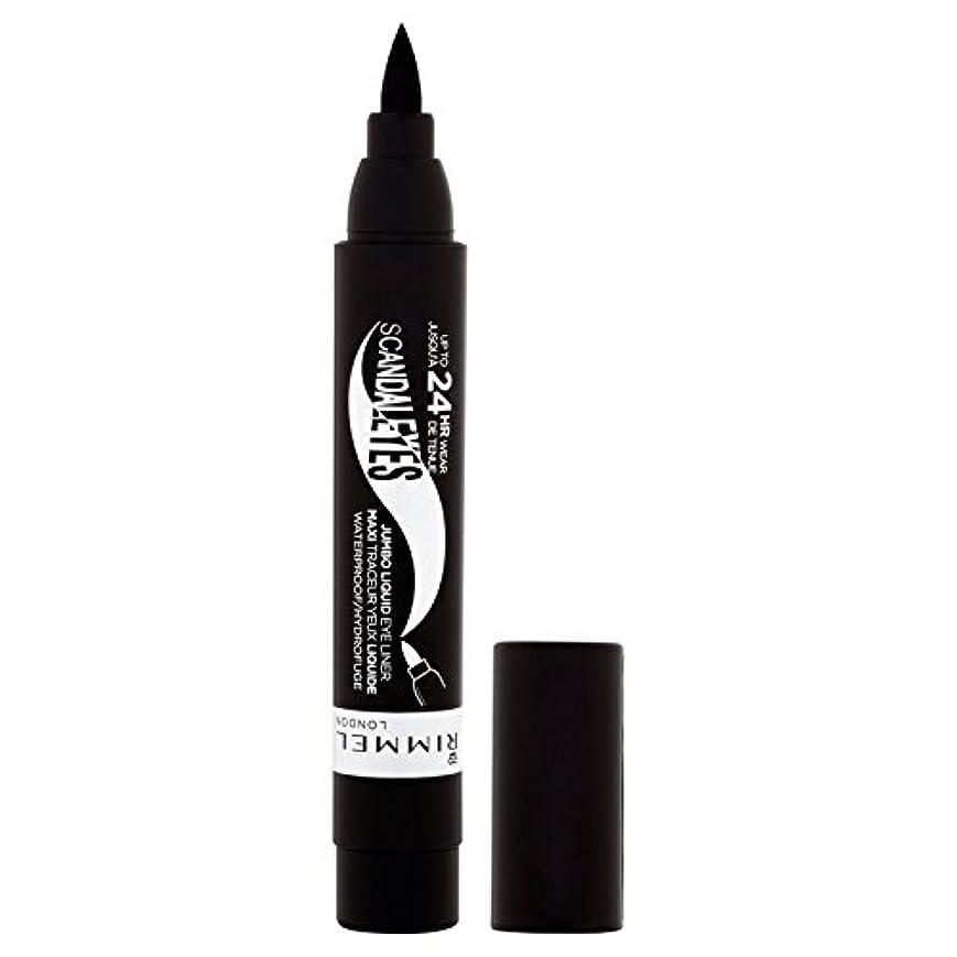 哺乳類程度起きているRimmel Scandaleyes Jumbo Eyeliner, Black 1g (Pack of 6) - リンメルジャンボアイライナー、黒1グラム x6 [並行輸入品]