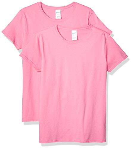 Gildan Women's Heavy Cotton Adult T-Shirt, 2-Pack, Azalea, 2X-Large