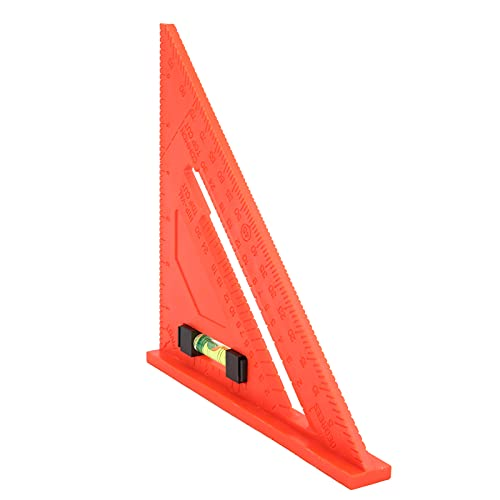 Regla triangular, regla triangular de 7 pulgadas, herramienta de medición para carpintería, regla triangular para carpintería