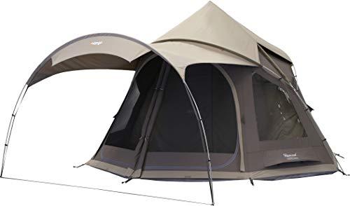 Vango Unisex– Erwachsene Rosewood Zelt, Campingzelt, Camping, Tipi, Tepee, Nutmeg, 6 Personen