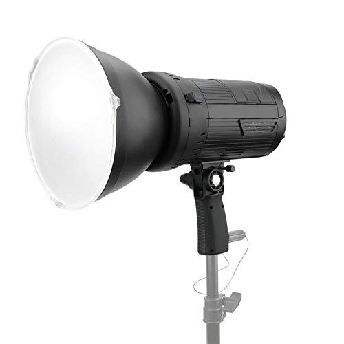 DAUERHAFT Lámpara de fotografía con luz LED de aleación de Aluminio, atenuación Continua sin Diferencia de Color,(European Standard (100-240v))