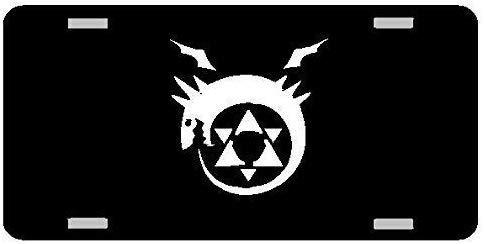 cwb2jcwb2jcwb2j 6' x 12' License Plate Sign, Aluminum Sign, Custom Alchemist Anime Logo Metal License Plate