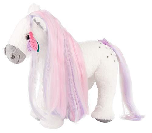 Depesche 10111 Miss Melody - Plüsch-Pferd mit kämmbarer Mähne, niedliches Kuscheltier, ca. 27 cm groß, zum Kuscheln und Liebhaben