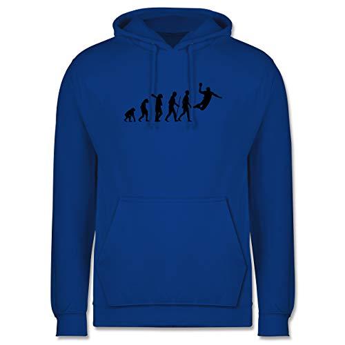 Shirtracer Evolution - Handball Evolution Herren - S - Royalblau - Handball Hoodie Herren - JH001 - Herren Hoodie und Kapuzenpullover für Männer
