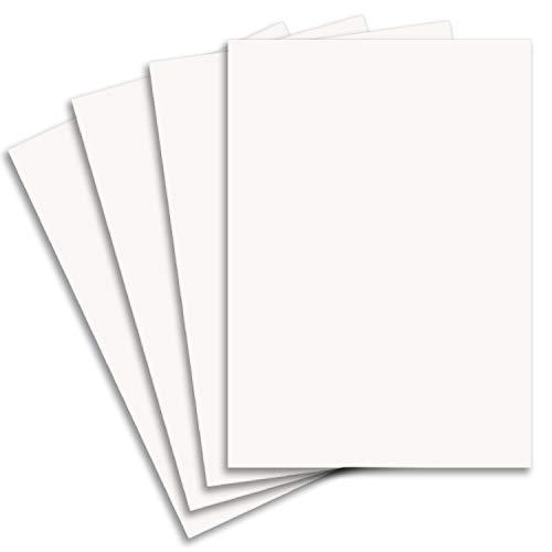15x Stabiler DIN A3 Bastelkarton Papierbogen in Hochweiß (Weiß) - 42 x 29,7 cm - 240 g/m² - Planobogen zum Basteln und Selbstgestalten - FarbenFroh