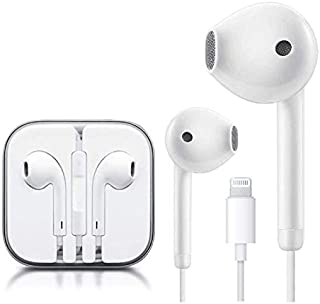 Bluetooth Connection Lighting Earbuds Headphone Wired Earphones Headset with Microphone and Volume Control, Compatible wit...