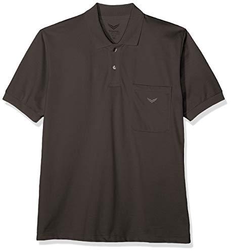 Trigema Herren Poloshirt , Grau (Anthrazit 018) , XXXX-Large