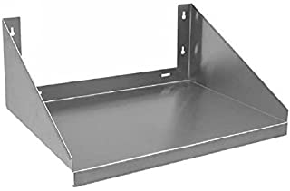 Royal Industries 1 each Stainless Steel Over Stove Wall  Microwave Shelf, 24x24, Silver
