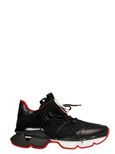 Luxury Fashion | Christian Louboutin Heren 1190541BK01 Zwart Stof Hi Top Sneakers | Herfst-winter 19