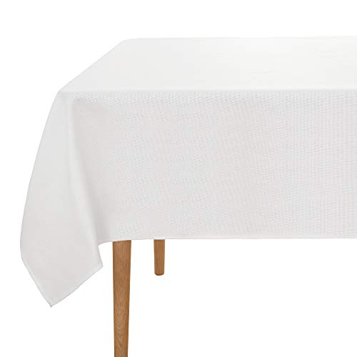 UMI. Essentials - Manteles Mesa Rectangular Tela 137 x 274 cm Blanco