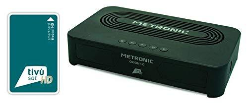 RICEVITORE DECODER SATELLITARE TIVUSAT METRONIC HD DVB-S2 CON TESSERA ORION1.0