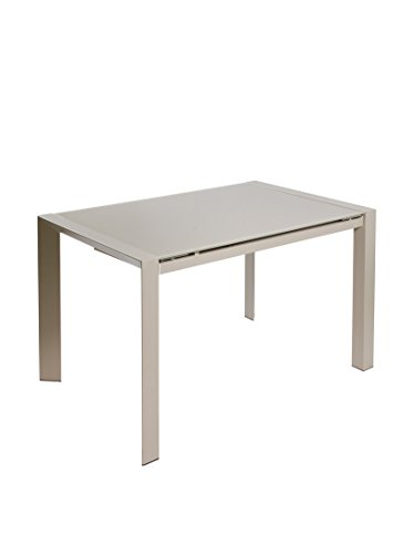 Contemporary Style Table Extensible Grise