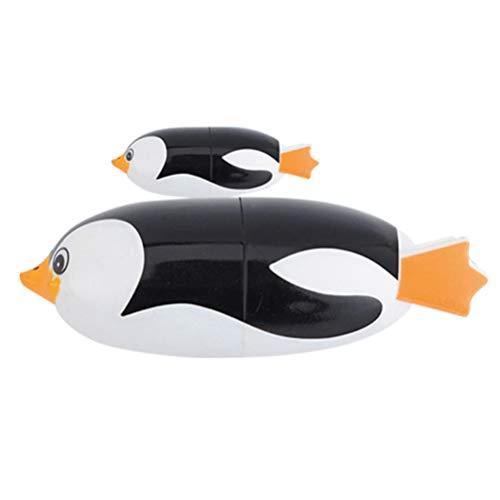 TOYANDONA 2 Piezas de Natación Pingüino de Juguete Bebé Agua Jugando Juguetes de Baño de Animales Marinos para Bebés Y Niños Pequeños Bañera de Piscina Inflable (Grande + Pequeña)