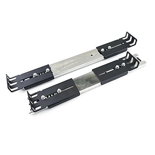 Guías laterales telescópicas de 300 mm extensibles para caja rack 19' IPC