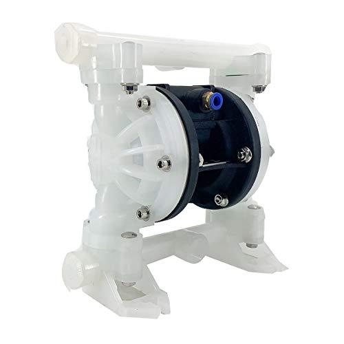 Cozyel Air-Operated Diaphragm Pump Double Diaphragm Pump 1/2 inch Inlet & Outlet, Air Diaphragm Pump Dual Diaphragm Air Pump 9 GPM Max 100PSI
