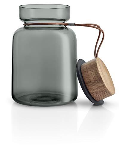 EVA SOLO Silhuette - Barattolo in Vetro, Colore: Grigio Fumo, Grau, 1,5 L