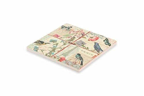 Galileo Casa Birds sotto Macchinetta, Ceramica