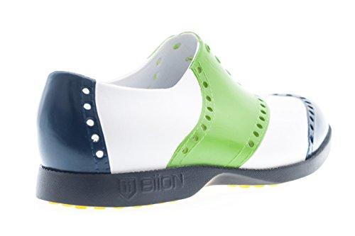 Biion(バイオン)BI1132ゴルフシューズ8BOW-1132セージ、ブライトブルー/白M8(26cm)