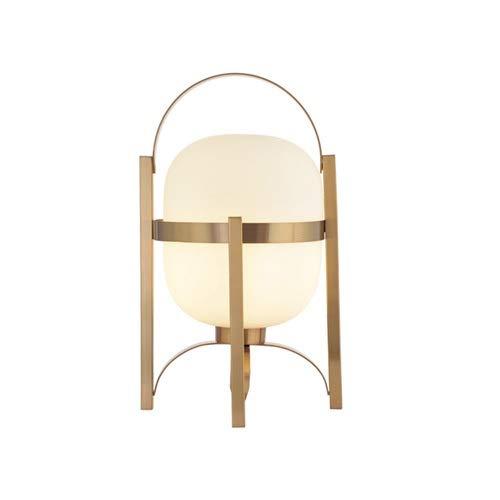 BEDKING Lámpara de mesa esférica E27 portátil blanca blanca francesa Lámpara de mesa de noche Decoración simple Lámpara de escritorio Hogar Luz de escritorio cálida Luces de escritorio para sala de es