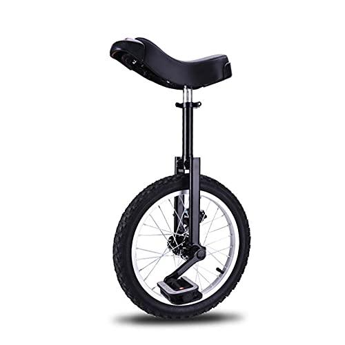 XIAOLULU BicicletaBicicleta Equilibrada De Atletismo Monociclo Al Aire Libre De 16/20 Pulgadas, Bicicleta para Ni?os Y Adultos, Una Sola Rueda (Size:20; Color:Black)