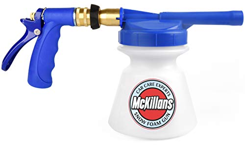 "McKillans Improved Design Garden Hose Foam Gun Adjustable Car Wash Soap Sprayer with 3/8"" Quick Connector for Detailing Car and Trucks"