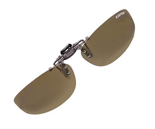 日本製 偏光 前掛け クリップ 式 サングラス メガネの上から 紫外線カット UVカット 超軽量 跳ね上げ式 男女兼用 幅広 横長 タイプ キーパー 9330-01