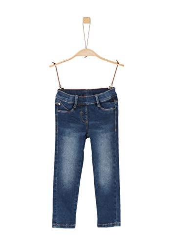 s.Oliver Junior Mädchen 54.899.71.0474 Slim Hose, Blue Stretched den, 128 (Herstellergröße: 128/SLIM)