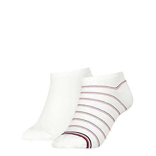 Tommy Hilfiger Preppy Women's Sneaker-Trainer Socks (2 Pack) Chaussettes, Blanc, 40 Femme