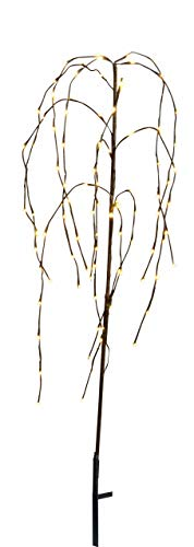 Best Season 860-15 - Decorative albero con luci a LED (110 cm, include il trasformatore esterno), piangente disegno salice